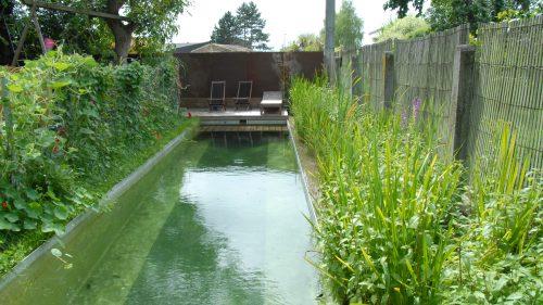 Schwimmrinne mit Pflanzenfilter