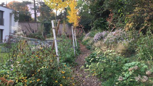 Gartenweg im Herbst